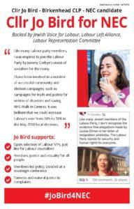 Jo Bird for NEC front