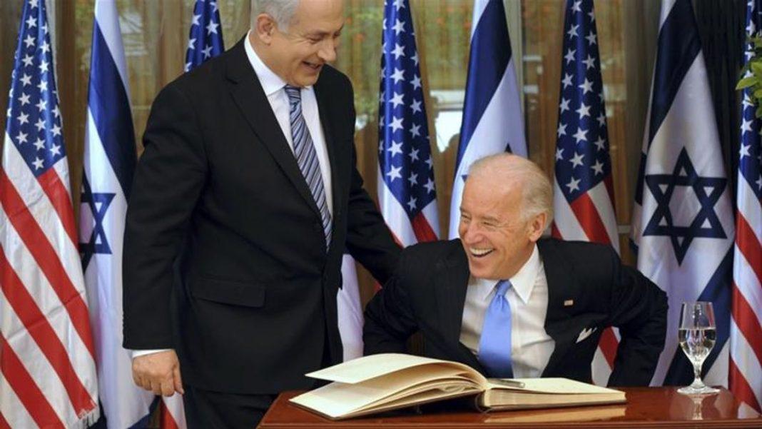 Netanyahu and Biden having a laugh